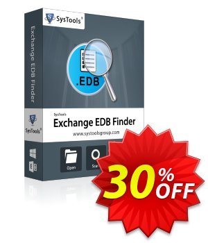 EDB Finder - Business License Coupon, discount SysTools coupon 36906. Promotion:
