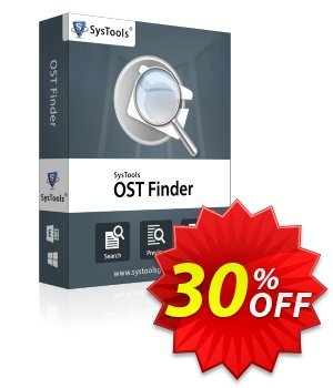SysTools Outlook OST Finder 프로모션 코드 SysTools coupon 36906 프로모션: