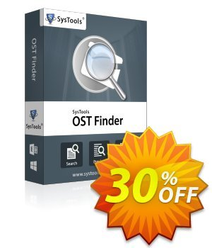 SysTools Outlook OST Finder (Business License) discount coupon SysTools coupon 36906 -