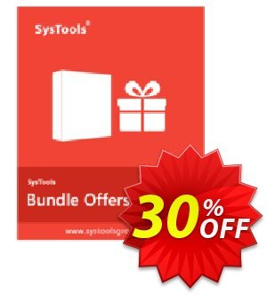 Bundle Offer - Outlook PST Finder + PST Merge + Split PST (Business License) Coupon discount SysTools coupon 36906. Promotion: