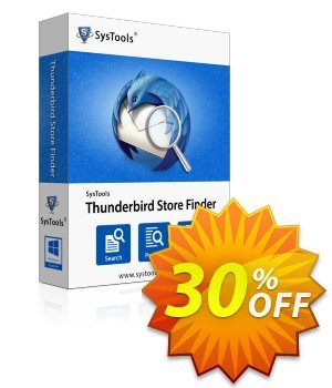 Thunderbird Store Finder - Personal License Coupon, discount SysTools coupon 36906. Promotion: