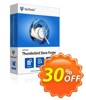 SysTools Thunderbird Store Finder (Enterprise) 優惠券,折扣碼 SysTools coupon 36906,促銷代碼: