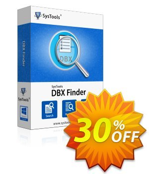 SysTools DBX Finder (Business License) 优惠券