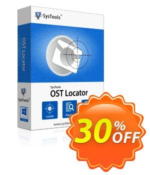 SysTools OST File Locator (Business License) Coupon, discount SysTools coupon 36906. Promotion: