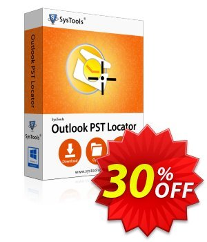 SysTools Outlook PST Locator (Enterprise) 프로모션 코드 SysTools coupon 36906 프로모션: