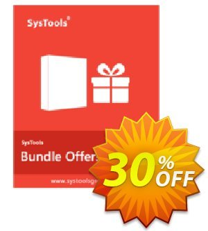 Bundle Offer - PST Locator + PST Merge + Split PST (Personal License) Coupon, discount SysTools coupon 36906. Promotion: