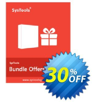 Bundle Offer - PST Locator + PST Merge + Split PST (Business License) Coupon, discount SysTools coupon 36906. Promotion: