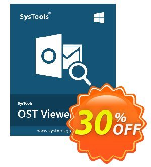 OST Viewer Pro - Single User License Coupon, discount SysTools coupon 36906. Promotion: