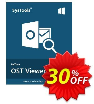 SysTools OST Viewer Pro (10 Users) Coupon, discount SysTools coupon 36906. Promotion:
