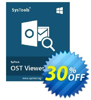 SysTools OST Viewer Pro (25 Users) Coupon, discount SysTools coupon 36906. Promotion: