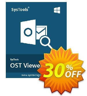 SysTools OST Viewer Pro (100 Users) Coupon, discount SysTools coupon 36906. Promotion: