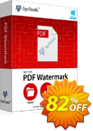 SysTools PDF Watermark Coupon discount SysTools Summer Sale -