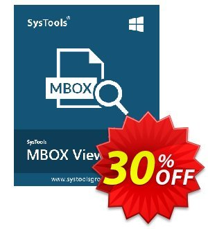 MBOX Viewer Pro (10 User License) Coupon discount SysTools coupon 36906. Promotion: