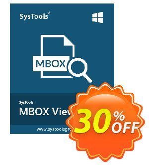 MBOX Viewer Pro (10 User License) Coupon, discount SysTools coupon 36906. Promotion: