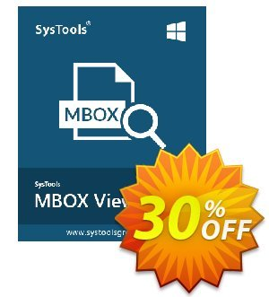 MBOX Viewer Pro (25 User License) Coupon, discount SysTools coupon 36906. Promotion: