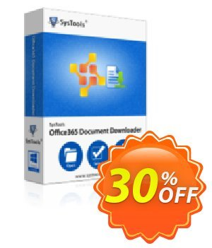 Office365 Document Downloader - 1 to 25 Users License Coupon, discount SysTools coupon 36906. Promotion: