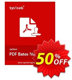 PDF Bates Numberer - Business License Coupon, discount SysTools coupon 36906. Promotion: