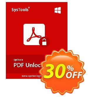SysTools PDF Unlocker Coupon, discount SysTools PDF Unlocker impressive offer code 2019. Promotion:
