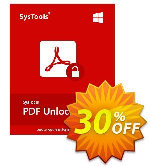 SysTools PDF Unlocker (Enterprise) 優惠券,折扣碼 SysTools coupon 36906,促銷代碼: