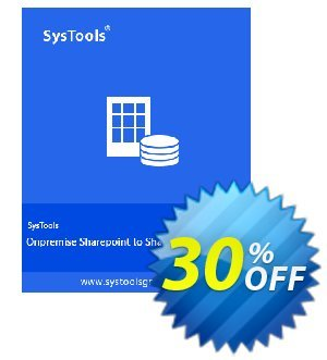 SharePoint Organiser - Business License Coupon, discount SysTools coupon 36906. Promotion:
