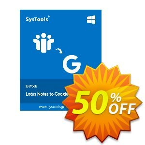Lotus Notes to Google Apps - 1 to 25 Users License Coupon, discount SysTools coupon 36906. Promotion: