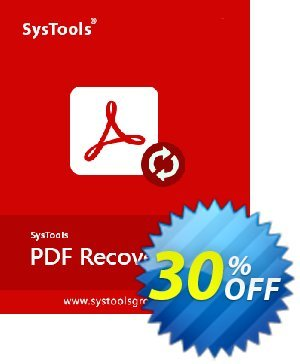 SysTools PDF Recovery Coupon discount SysTools Summer Sale -
