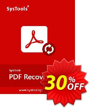 SysTools PDF Recovery (Business License) Coupon, discount SysTools Summer Sale. Promotion: