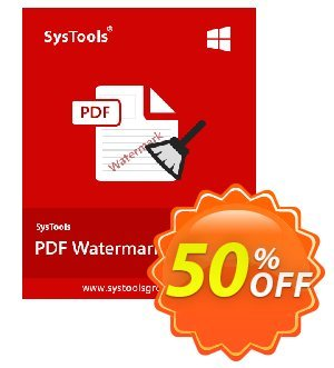 SysTools PDF Watermark Remover discount coupon SysTools Summer Sale -