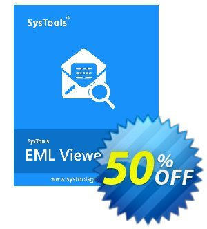 SysTools EML Viewer Pro (50 Users) Coupon, discount SysTools coupon 36906. Promotion: