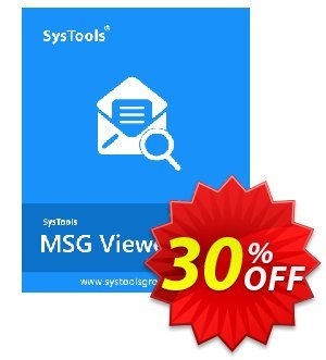 MSG Viewer Pro - Personal License Coupon, discount SysTools coupon 36906. Promotion: