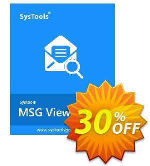 SysTool MSG Viewer Pro (10 Users) discount coupon SysTools coupon 36906 -