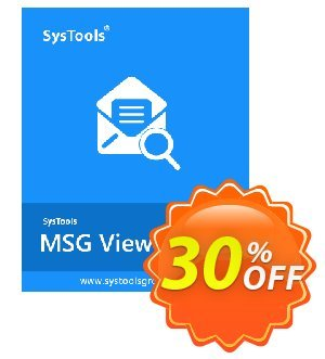 SysTool MSG Viewer Pro (10 Users) Coupon, discount SysTools coupon 36906. Promotion: