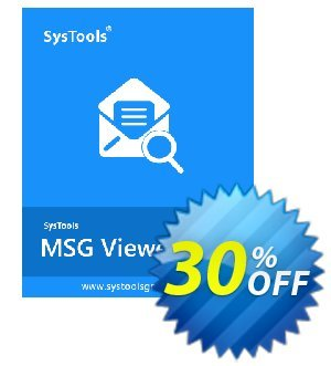 SysTool MSG Viewer Pro (25 Users) Coupon discount SysTools coupon 36906. Promotion:
