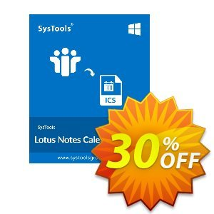 SysTools Lotus Notes Calendars to iCalendar .ICS Coupon, discount SysTools Summer Sale. Promotion: