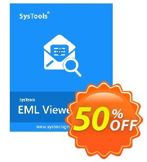SysTools EML Viewer Pro (Single User) 프로모션 코드 SysTools coupon 36906 프로모션:
