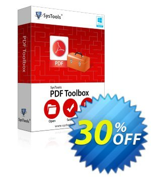 PDF Toolbox - Personal License Coupon, discount SysTools coupon 36906. Promotion: