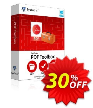 PDF Toolbox - Business License Coupon, discount SysTools coupon 36906. Promotion: