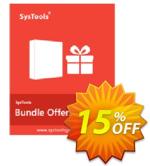 Bundle Offer - PDF Toolbox + PDF Split & Merge + PDF Unlocker [Personal License] Coupon, discount SysTools coupon 36906. Promotion:
