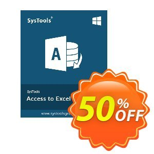 SysTools Access to Excel Coupon, discount SysTools Summer Sale. Promotion: