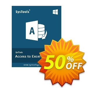 SysTools Access to Excel (Business License) Coupon, discount SysTools coupon 36906. Promotion:
