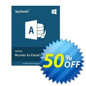SysTools Access to Excel (Enterprise License) Coupon, discount SysTools coupon 36906. Promotion:
