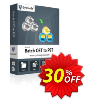 SysTools Batch OST Converter Coupon, discount SysTools coupon 36906. Promotion: