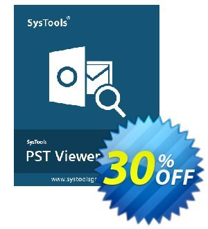 Outlook PST File Viewer Pro Plus - Personal License Coupon, discount SysTools coupon 36906. Promotion: