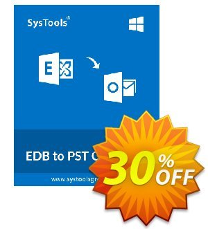 EDB to PST Converter - Corporate License Coupon, discount SysTools coupon 36906. Promotion: