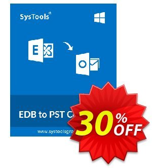 SysTools EDB to PST Converter (Corporate) Coupon, discount SysTools coupon 36906. Promotion: