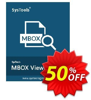 MBOX Viewer Pro Plus (25 User License) discount coupon SysTools coupon 36906 -