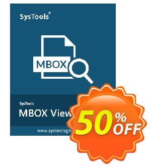 MBOX Viewer Pro Plus - 100 User License Coupon, discount SysTools coupon 36906. Promotion: