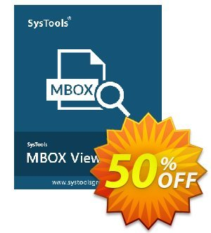 MBOX Viewer Pro Plus (100 User License) 프로모션 코드 SysTools coupon 36906 프로모션: