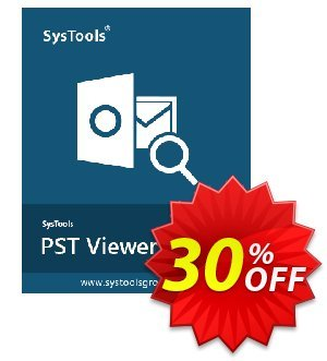 Get SysTools PST Viewer Pro Plus 30% OFF coupon code