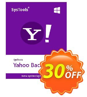 SysTools Yahoo Backup Single Account Coupon, discount SysTools coupon 36906. Promotion: